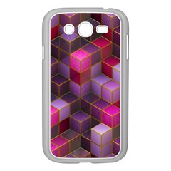 Cube Surface Texture Background Samsung Galaxy Grand Duos I9082 Case (white)