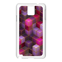 Cube Surface Texture Background Samsung Galaxy Note 3 N9005 Case (white)