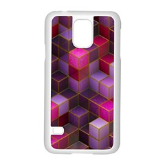 Cube Surface Texture Background Samsung Galaxy S5 Case (white)
