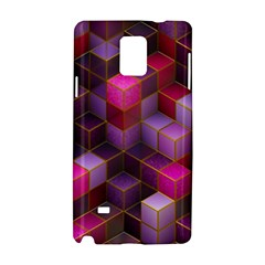 Cube Surface Texture Background Samsung Galaxy Note 4 Hardshell Case