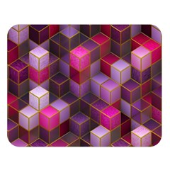 Cube Surface Texture Background Double Sided Flano Blanket (large)
