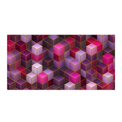 Cube Surface Texture Background Satin Wrap