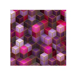 Cube Surface Texture Background Small Satin Scarf (square)