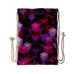 Cube Surface Texture Background Drawstring Bag (small)