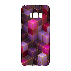 Cube Surface Texture Background Samsung Galaxy S8 Hardshell Case