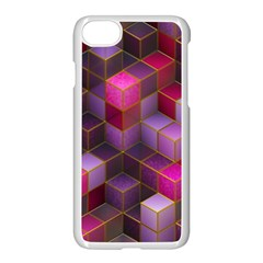Cube Surface Texture Background Apple Iphone 8 Seamless Case (white)
