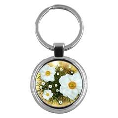 Summer Anemone Sylvestris Key Chains (round)
