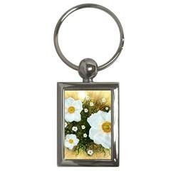 Summer Anemone Sylvestris Key Chains (rectangle)