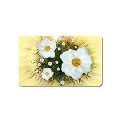 Summer Anemone Sylvestris Magnet (name Card) by Nexatart