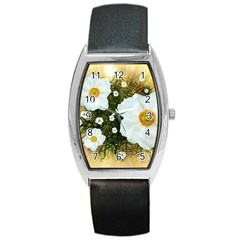 Summer Anemone Sylvestris Barrel Style Metal Watch