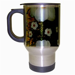Summer Anemone Sylvestris Travel Mug (silver Gray)