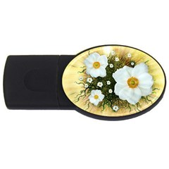 Summer Anemone Sylvestris Usb Flash Drive Oval (4 Gb) by Nexatart