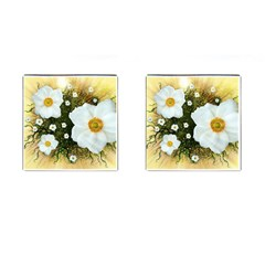 Summer Anemone Sylvestris Cufflinks (square)