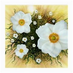 Summer Anemone Sylvestris Medium Glasses Cloth (2 Side) by Nexatart
