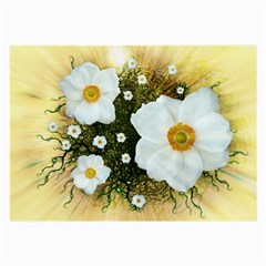 Summer Anemone Sylvestris Large Glasses Cloth by Nexatart