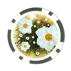 Summer Anemone Sylvestris Poker Chip Card Guard