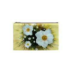 Summer Anemone Sylvestris Cosmetic Bag (small)  by Nexatart