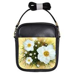 Summer Anemone Sylvestris Girls Sling Bags