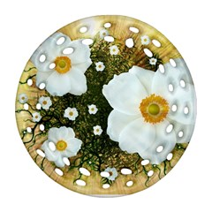 Summer Anemone Sylvestris Ornament (round Filigree) by Nexatart