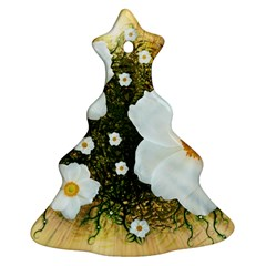 Summer Anemone Sylvestris Christmas Tree Ornament (two Sides) by Nexatart