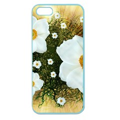 Summer Anemone Sylvestris Apple Seamless Iphone 5 Case (color) by Nexatart
