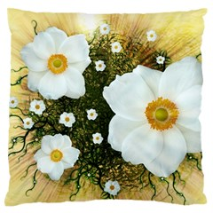 Summer Anemone Sylvestris Large Flano Cushion Case (one Side) by Nexatart