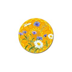 Flowers Daisy Floral Yellow Blue Golf Ball Marker (10 Pack)