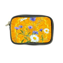 Flowers Daisy Floral Yellow Blue Coin Purse