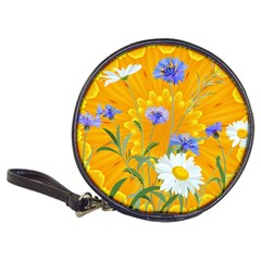 Flowers Daisy Floral Yellow Blue Classic 20 Cd Wallets