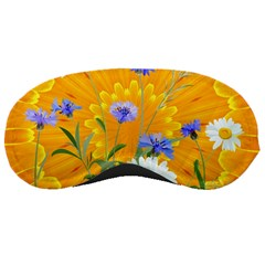 Flowers Daisy Floral Yellow Blue Sleeping Masks