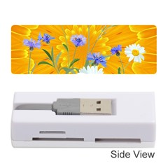 Flowers Daisy Floral Yellow Blue Memory Card Reader (stick)