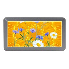 Flowers Daisy Floral Yellow Blue Memory Card Reader (mini)