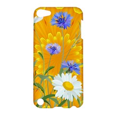 Flowers Daisy Floral Yellow Blue Apple Ipod Touch 5 Hardshell Case by Nexatart