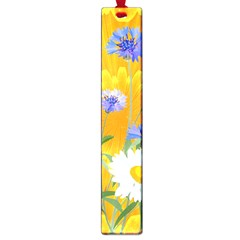Flowers Daisy Floral Yellow Blue Large Book Marks