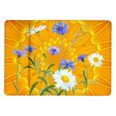 Flowers Daisy Floral Yellow Blue Samsung Galaxy Tab 10 1  P7500 Flip Case
