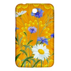 Flowers Daisy Floral Yellow Blue Samsung Galaxy Tab 3 (7 ) P3200 Hardshell Case