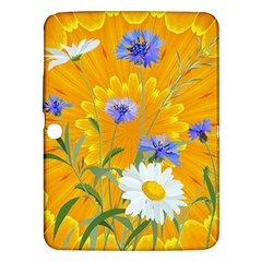Flowers Daisy Floral Yellow Blue Samsung Galaxy Tab 3 (10 1 ) P5200 Hardshell Case