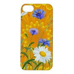Flowers Daisy Floral Yellow Blue Apple Iphone 5s/ Se Hardshell Case