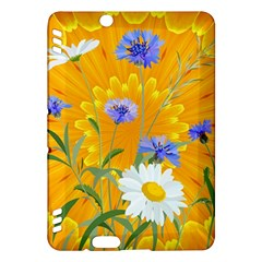 Flowers Daisy Floral Yellow Blue Kindle Fire Hdx Hardshell Case
