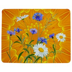 Flowers Daisy Floral Yellow Blue Jigsaw Puzzle Photo Stand (rectangular)