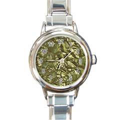 Seamless Repeat Repetitive Round Italian Charm Watch