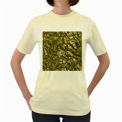 Seamless Repeat Repetitive Women s Yellow T Shirt