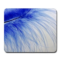 Feather Blue Colored Large Mousepads