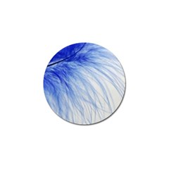 Feather Blue Colored Golf Ball Marker (4 Pack) by Nexatart