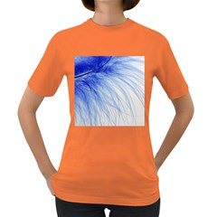 Feather Blue Colored Women s Dark T Shirt
