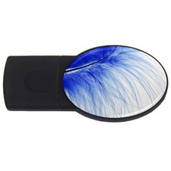 Feather Blue Colored Usb Flash Drive Oval (4 Gb)