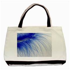 Feather Blue Colored Basic Tote Bag