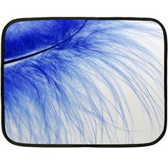 Feather Blue Colored Double Sided Fleece Blanket (mini)
