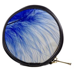 Feather Blue Colored Mini Makeup Bags