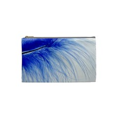 Feather Blue Colored Cosmetic Bag (small)